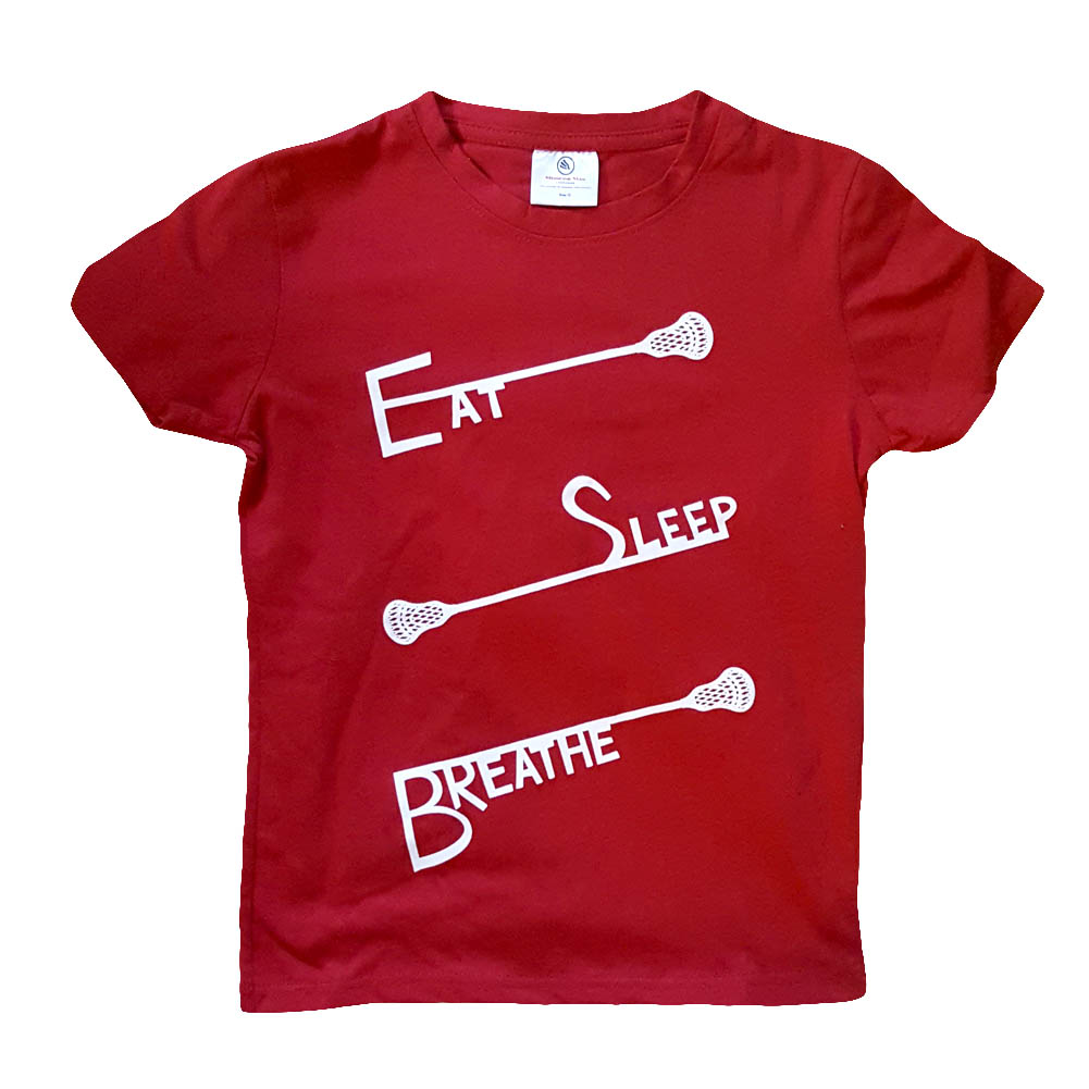 Boys Eat Sleep Breathe Lacrosse Shirt
